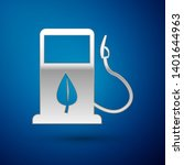 silver bio fuel concept with... | Shutterstock .eps vector #1401644963