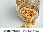 roasted peanuts in the glass...   Shutterstock . vector #1401645269