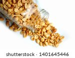 roasted peanuts in the glass...   Shutterstock . vector #1401645446