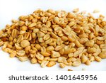 roasted peanuts on white...   Shutterstock . vector #1401645956