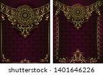 vintage background mandala card ... | Shutterstock .eps vector #1401646226