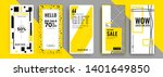 trendy editable template for... | Shutterstock .eps vector #1401649850