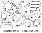 comic speech bubbles and... | Shutterstock .eps vector #1401655226