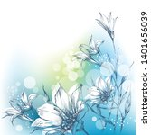 bright floral background in... | Shutterstock .eps vector #1401656039