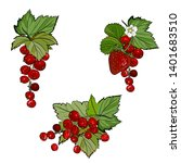 strawberry and red currant ... | Shutterstock .eps vector #1401683510