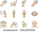 allergy symptoms color icons... | Shutterstock .eps vector #1401690350