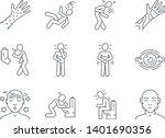 allergy symptoms linear icons... | Shutterstock .eps vector #1401690356