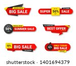 set of sale tags. sale ... | Shutterstock .eps vector #1401694379
