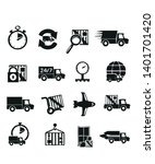 delivery icons vector symbol... | Shutterstock .eps vector #1401701420