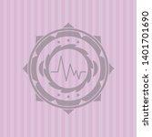 electrocardiogram icon inside... | Shutterstock .eps vector #1401701690