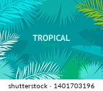 tropical background with palm...   Shutterstock .eps vector #1401703196