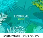 tropical background with palm...   Shutterstock .eps vector #1401703199