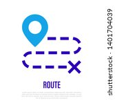 route  distance or direction... | Shutterstock .eps vector #1401704039