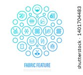 fabric feature concept. thin... | Shutterstock .eps vector #1401704483