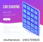 car sharing web page template.... | Shutterstock .eps vector #1401705833