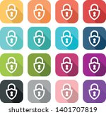 set of coloured padlock icon in ... | Shutterstock .eps vector #1401707819