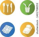 kitchen utensils flat long... | Shutterstock .eps vector #1401708053