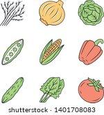 vegetables color icons set.... | Shutterstock .eps vector #1401708083