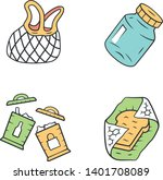 recyclable kitchen utensils... | Shutterstock .eps vector #1401708089