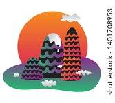 the mountains. vector...   Shutterstock .eps vector #1401708953