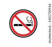 no smoking sign symbol icon... | Shutterstock .eps vector #1401720416