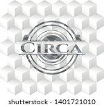 circa grey emblem. retro with... | Shutterstock .eps vector #1401721010