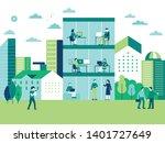 vector illustration in flat...   Shutterstock .eps vector #1401727649