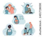 Vector Illustration Of Stress...