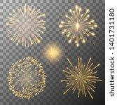 Set Of Five Vector Fireworks...