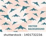 a flock of birds in the sky....   Shutterstock .eps vector #1401732236
