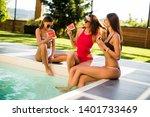 three beautiful young woman...   Shutterstock . vector #1401733469