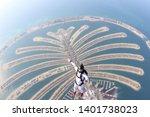 Dubai. Skydiving Men Stand On...