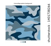 military camouflage blue...   Shutterstock .eps vector #1401738266