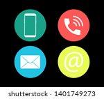 contact us symbols social media ... | Shutterstock .eps vector #1401749273