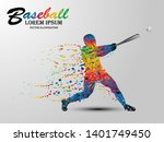 visual drawing of sport man in... | Shutterstock .eps vector #1401749450