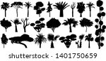 set of subtropical trees and...   Shutterstock .eps vector #1401750659