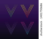 letter v logotype with triangle ... | Shutterstock .eps vector #1401750686