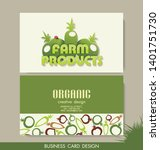 card set eco design  organic... | Shutterstock .eps vector #1401751730