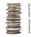 Vertically Stacked Coins On...