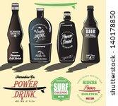 illustration of colorful beer... | Shutterstock .eps vector #140178850