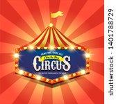 circus banner. carnival banner. ... | Shutterstock . vector #1401788729
