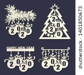 laser cutting template....   Shutterstock .eps vector #1401850673