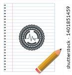 electrocardiogram icon pencil... | Shutterstock .eps vector #1401851459