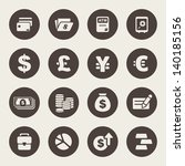 Finance And Money Theme Icons...