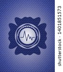electrocardiogram icon inside... | Shutterstock .eps vector #1401851573