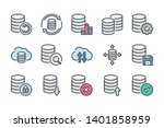 data storage and database... | Shutterstock .eps vector #1401858959