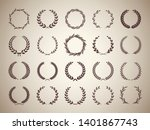 collection of circular vintage... | Shutterstock .eps vector #1401867743