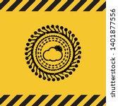 sun behind cloud icon grunge...   Shutterstock .eps vector #1401877556