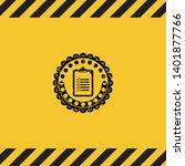 list icon black grunge emblem...   Shutterstock .eps vector #1401877766