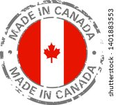 made in canada flag grunge icon | Shutterstock .eps vector #1401883553